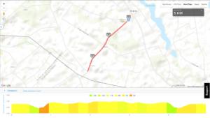 MTB Triathlon Brzuze - trasa biegowa, mapa