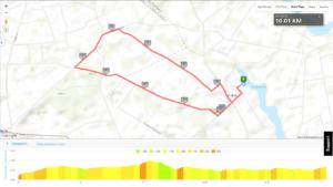 MTB Triathlon Brzuze - trasa rowerowa, mapa