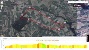 MTB Triathlon Brzuze - trasa rowerowa
