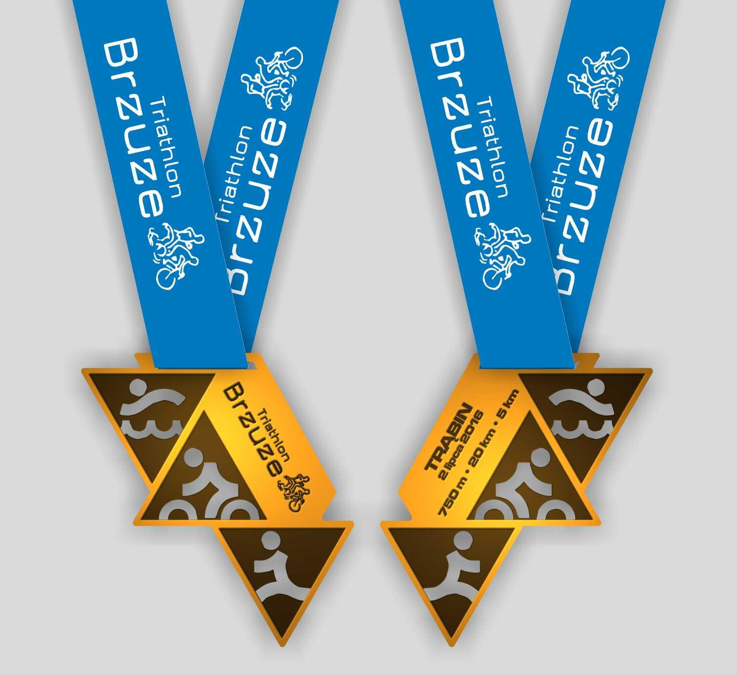 Projekt Medalu Triathlon Brzuze 2016